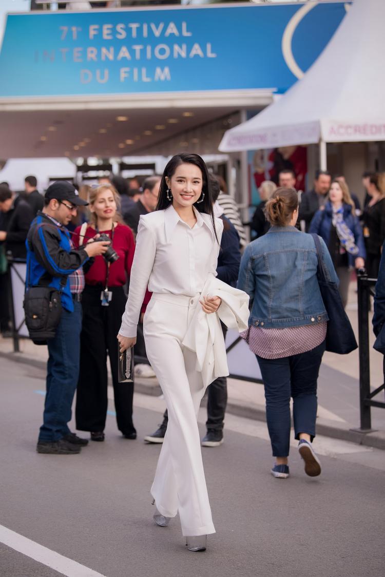 Nhã Phương tại sự kiện trong khuôn khổ Cannes 2018.