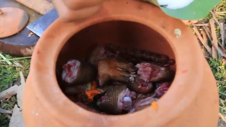 Ah Lin Tuch cùng chồng quay lại video giết thịt các động vật hoang dã.