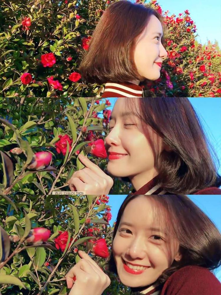 Khoảnh khắc xinh như nữ thần của Yoona được ghi lại bởi người chị Hyori.