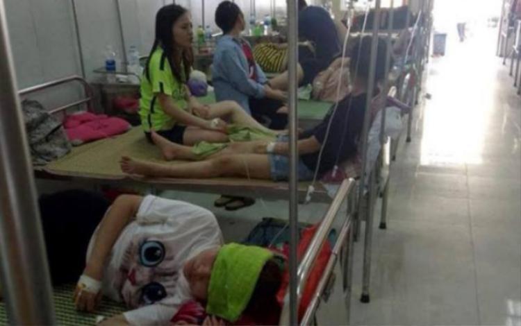 Nhiều sinh viên đang được điều trị tại bệnh viện.