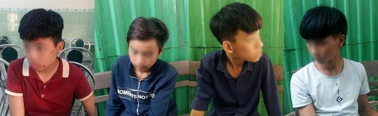 Các đối tượng trong băng cướp nhí đều chưa đủ 18 tuổi.
