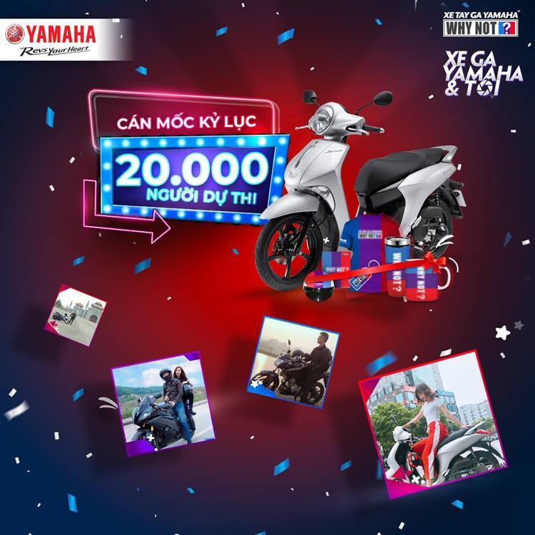 Cuộc thi Xe ga Yamaha và tôi cán mốc kỷ lục với hơn 20.000 người tham gia.