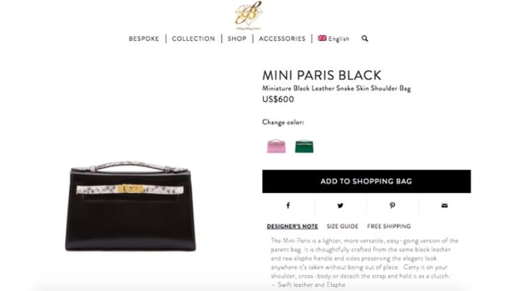 Trên website, mẫu túi này có giá khá phải chăng: 13,6 triệu đồng.