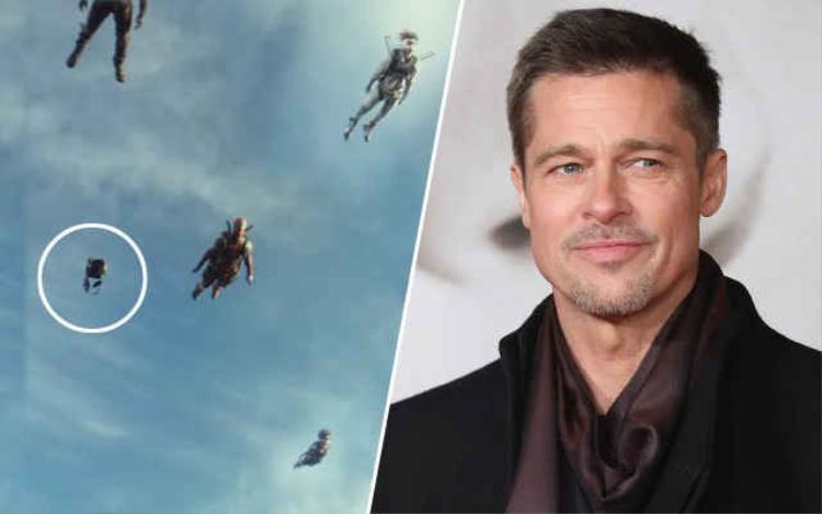 Vai diễn Vanisher của Brad Pitt tàng hình rồi xuất hiện trong chưa đầy 2 giây.