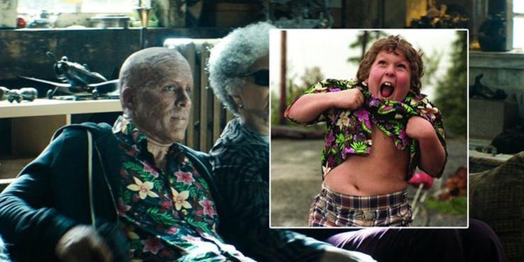 Deadpool đã khoác lên chiếc áo in hoa của bé Chunk năm nào.