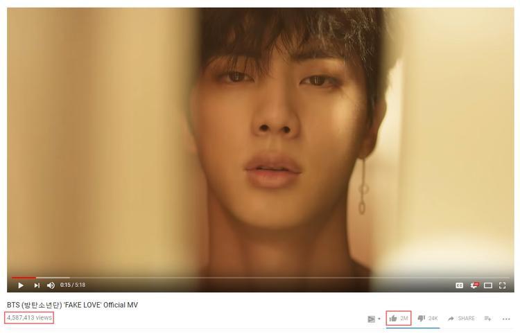 Sau 3h lên sóng, MV cán mốc 4,5 triệu view. Tuy nhiên hiện tại MV lại đang tiếp tục bị đóng băng ở con số4,587,413 view.