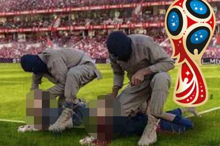 Hình ảnh IS dùng để đe dọa sẽ giết 2 siêu sao Lionel Messi và Cristiano Ronaldo.