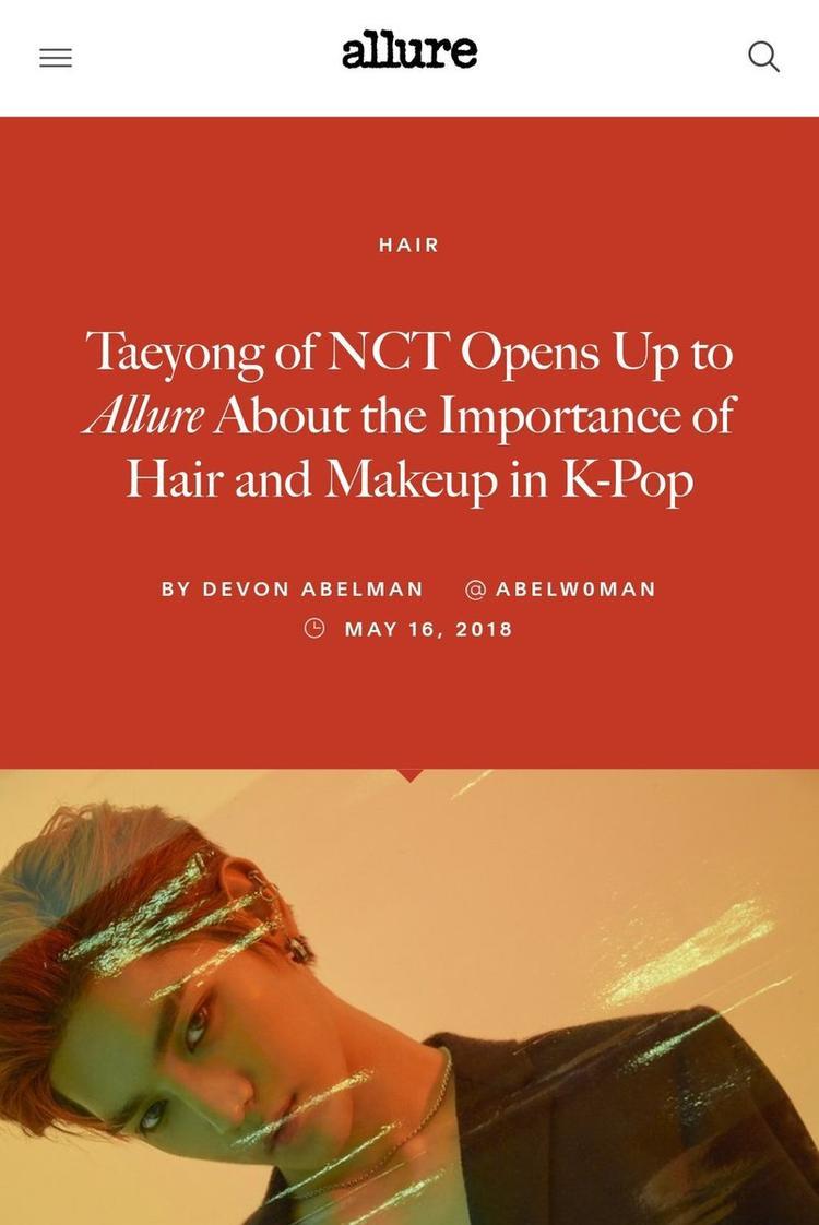 """""""Taeyong chia sẻ về tầm quan trọng của kiểu tóc và trang điểm trong Kpop""""."""
