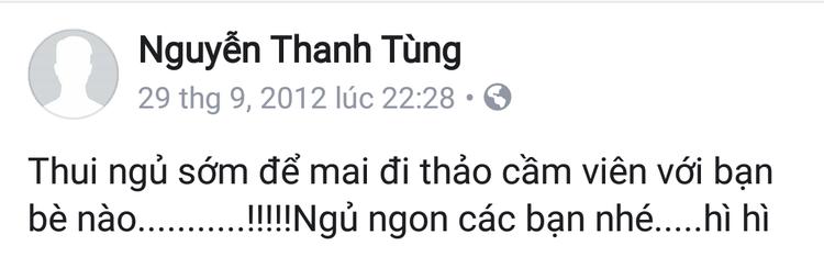 Ngày trước, đi đâu, làm gì, Sơn Tùng cũng chia sẻ trên mạng xã hội.