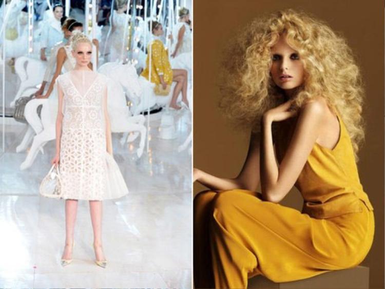 Siêu mẫu 20 tuổi người Australia, Crystal Copland từng rụng nửa mái tóc sau một tuần lễ thời trang.