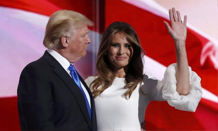 Tổng thống Donald Trump và Đệ nhất phu nhân Melania Trump. Ảnh: Reuters