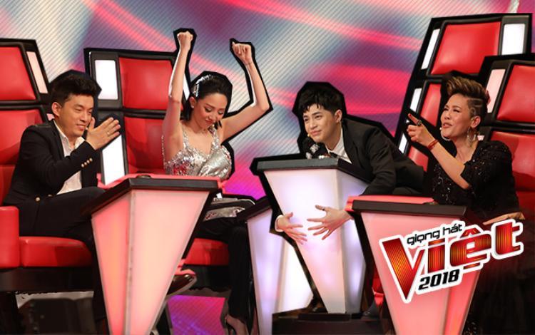 Sau tập 1, còn ai dám nói dàn HLV The Voice 2018 thiếu cân tài cân sức?