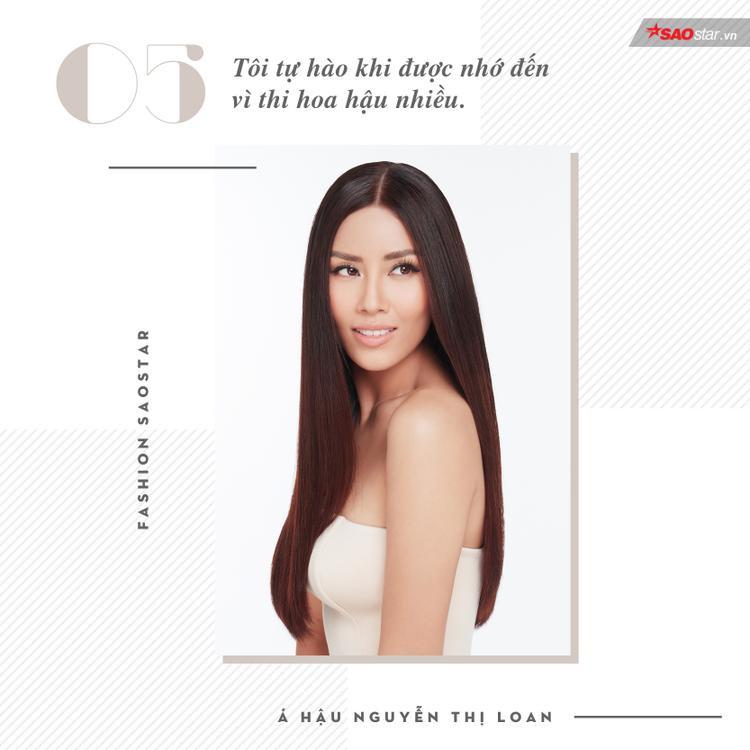 Cho đến thời điểm này, Nguyễn Thị Loan là cô gái đầu tiên của Việt Nam tham gia 3 cuộc thi nhan sắc lớn nhất hành tinh, bên cạnh đó, cô cũng là người đẹp duy nhất tại Việt Nam thi đến 6 cuộc thi hoa hậu.