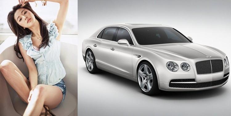 Diễn viên Jun Ji Hyun được cho là có chiếc Bentley Continental Flying Spur 6.0 với giá 285.000 USD.