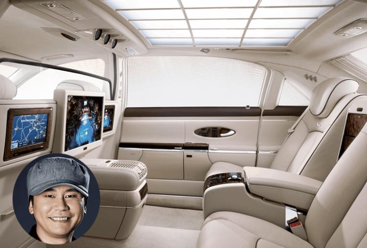 Chủ tịch YG Entertainment Yang Hyun Suk cũng dùng chiếc Mayback 62s.
