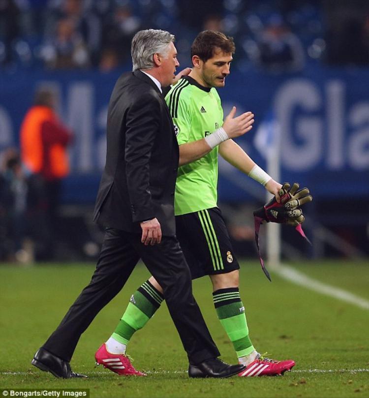 Casillas có những lời chia tay với HLV Ancelotti.