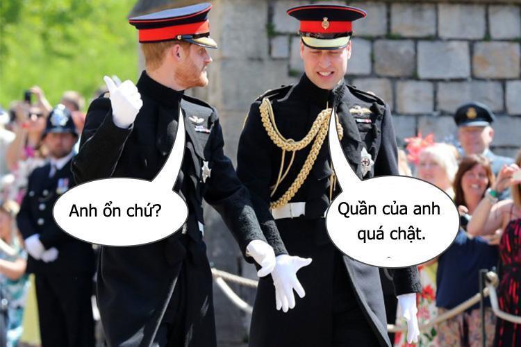 Hoàng tử William thật thà thừa nhận anh có gặp một chút rắc rối khi đi bộ tiến vào nhà nguyện.