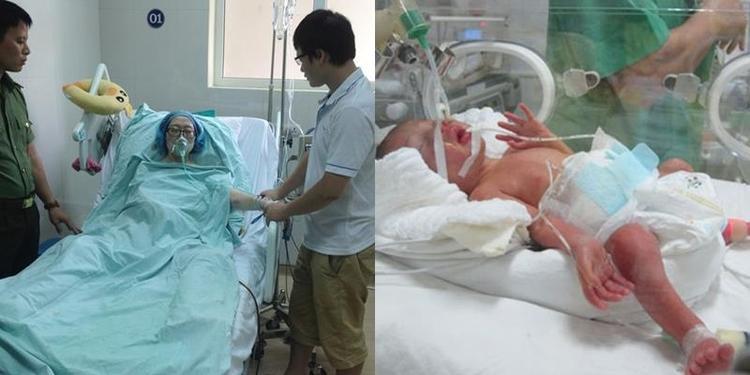 Suốt hơn tháng ròng trong viện, Trâm phải ngồi liên tục 24/24, trong những cơn tỉnh mê và ngủ chập chờn 2 tiếng đồng hồ mỗi ngày để giữ thai.