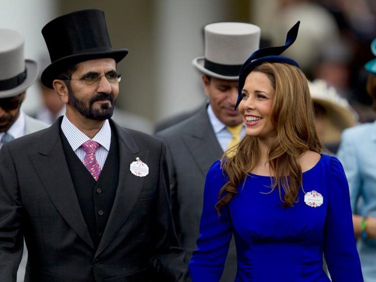 Quốc vương Mohammed bin Rashid Al Maktoum và phu nhân.