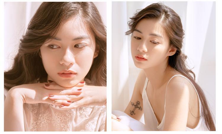 Nhan sắc nữ sinh xinh đẹp làm mẫu lookbook ở Sài Gòn.