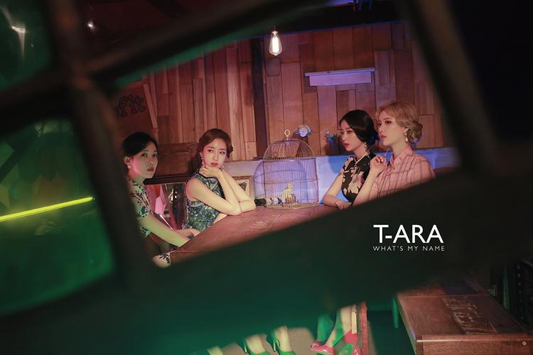 """Còn đây là font chữ """"T-ARA"""" trong album What's My Name có 4 người."""