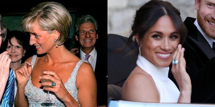 Chiếc nhẫn được nhận định là món quà cưới mà Hoàng tử Harry dành tặng vợ.