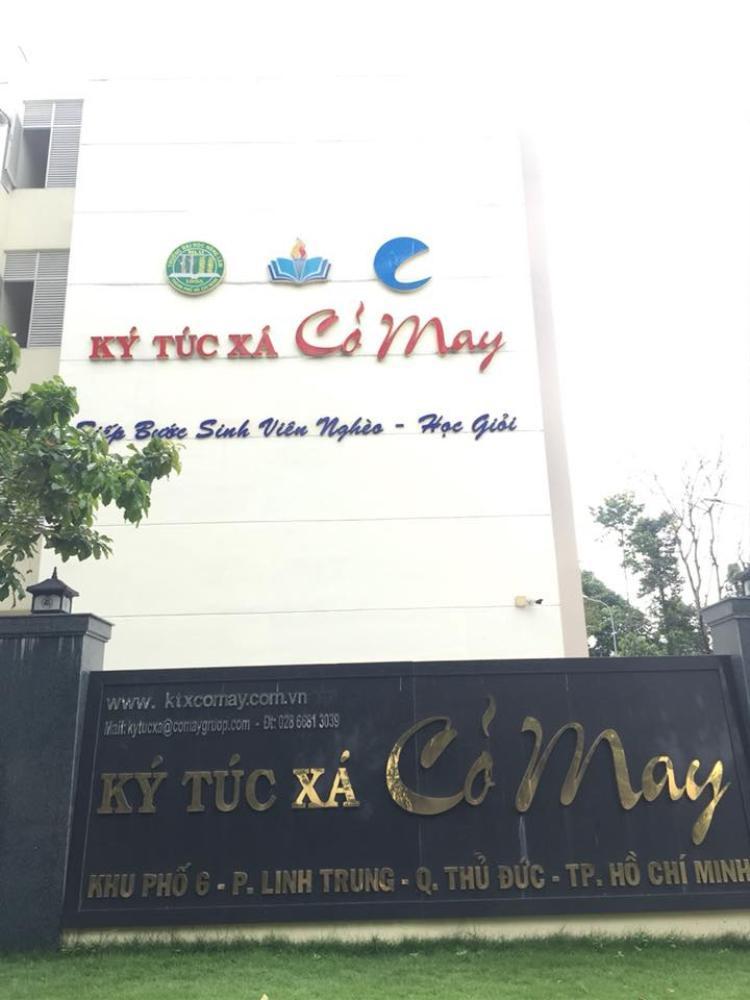 Kí túc xá Cỏ May nằm trong khuôn viên Trường ĐH Nông Lâm TP.HCM, do DNTN Cỏ May đầu tư xây dựng.