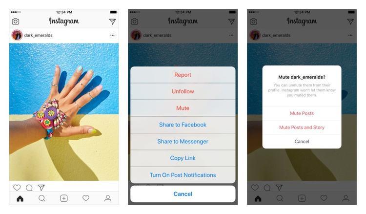"""Tính năng """"Mute"""" trên Instagram tương tự tính năng """"unfollow"""" trên Facebook và """"do not disturb"""" trên Instagram."""