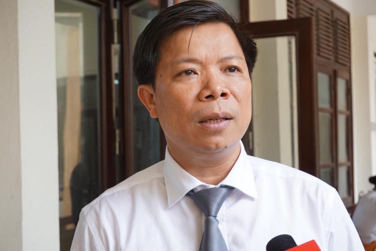 Luật sư Lê Văn Thiệp, người bào chữa cho bị cáo Lương.