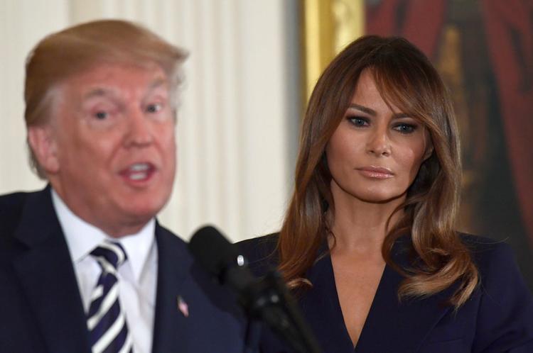 Nhiều người cho rằng bà Melania dành rất ít thời gian cho ông Donald Trump. Ảnh: AP