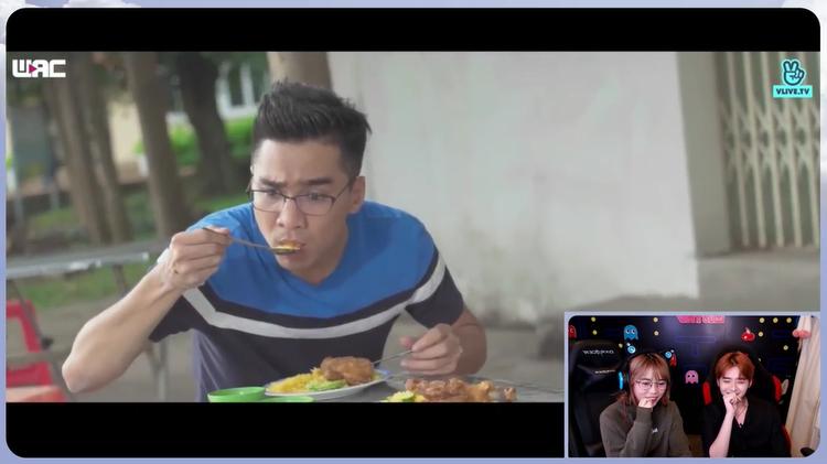 Trong khi 2 người bạn của mình bỏ đi thì Pew Pew vẫn cố gắng ngồi lại ăn cơm. Thế nhưng sau phân cảnh này là lúc anh chàng bị té ngã.