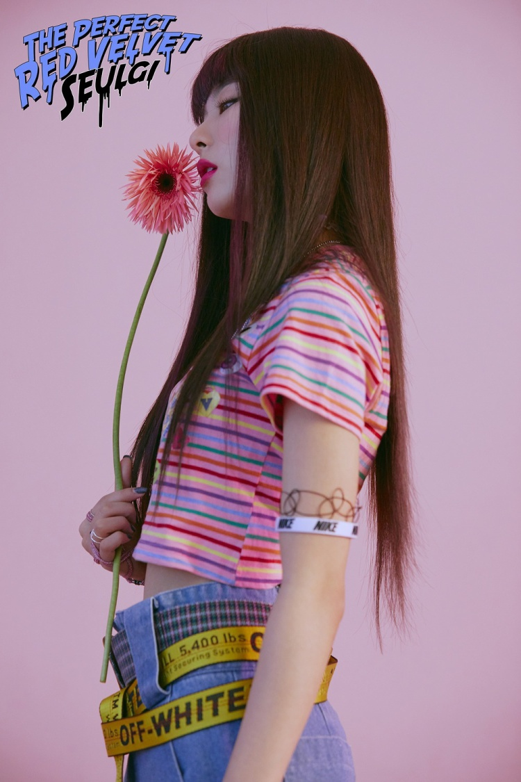 Với tóc dài suôn mượt, tạo hình của Seulgi trông thật cá tính.