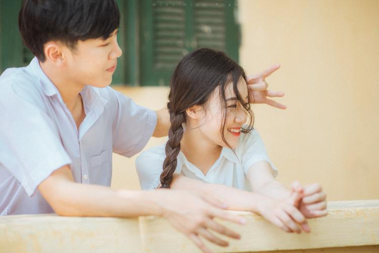 Sự đáng yêu hồn nhiên tuổi học trò được thể hiện rất sáng tạo trong bộ ảnh