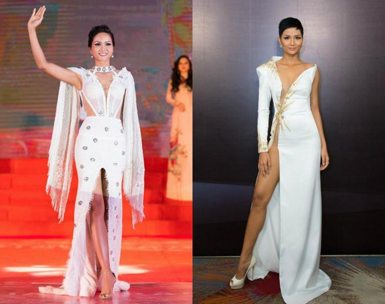 Trang phục dạ hội của các nhà mốt Việt phù hợp với hình ảnh sang trọng và vẻ đẹp nóng bỏng thường được người đẹp lựa chọn.