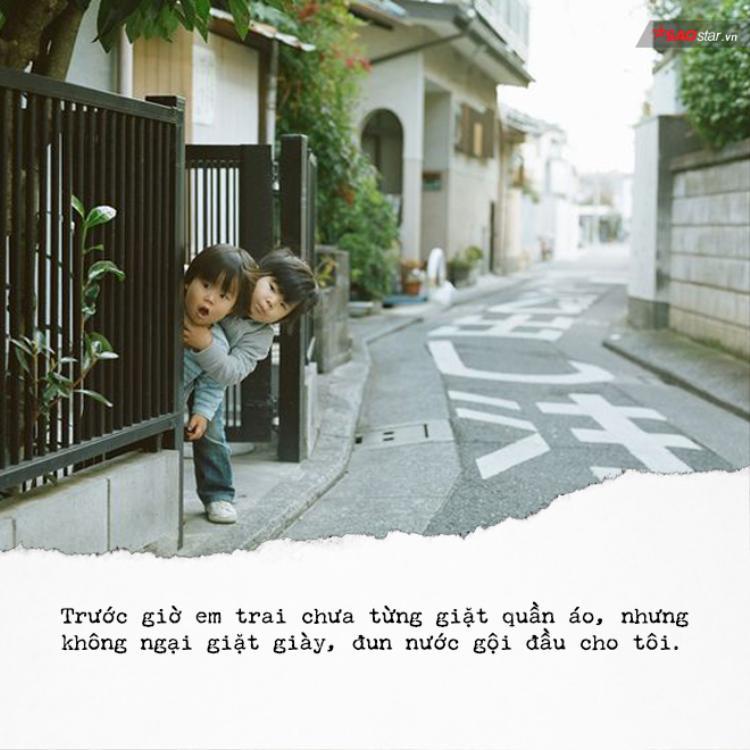 Hy vọng, sau này có bạn gái rồi cậu em vẫn thương chị như thuở nào.