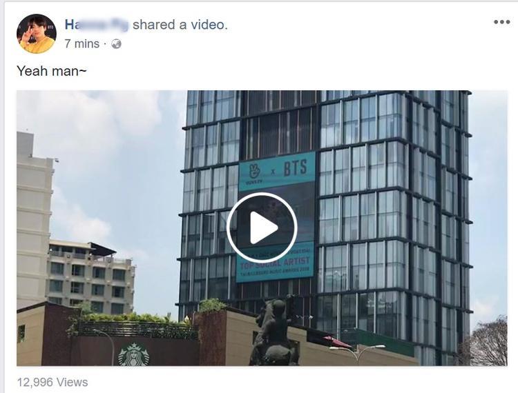 Các fan tích cực chia sẻ đoạn video này, nhằm đưa được tới BTS.