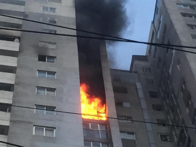 Lửa cháy khá lớn.