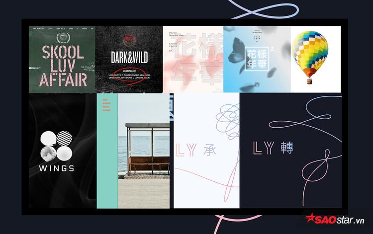 """Cận cảnh 9 bìa album """"tiếng Hàn"""" của BTS, tính từ 2014."""