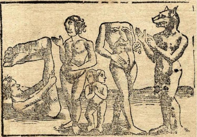 Sinh vật không đầu xuất hiện cách đây 2500 năm dưới miêu tả của sử gia người Hy Lạp, Herodotus.