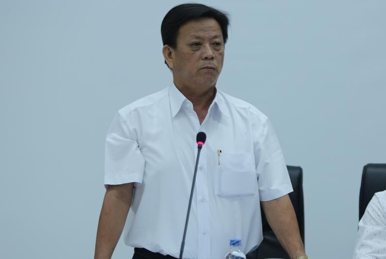 Ông Nguyễn Thanh Xuân, Phó chủ tịch UBND quận Thanh Khê tại buổi họp báo.