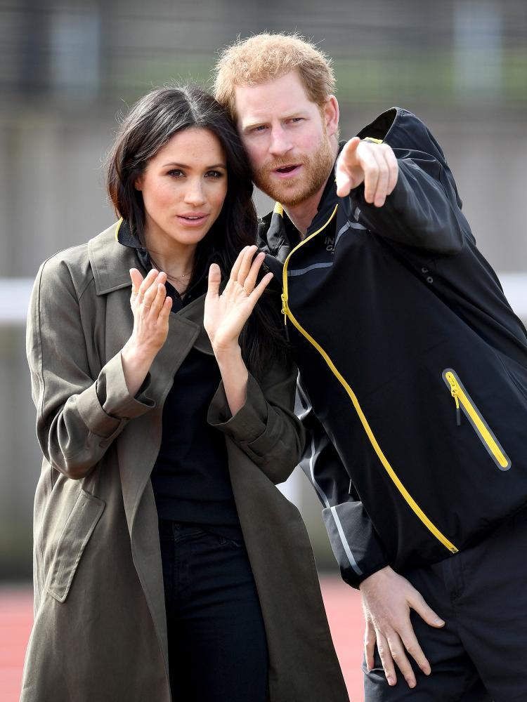 Hoàng tử Harry và Meghan thăm U.K. Team Trial vào tháng 4 năm nay. Ảnh: WireImage