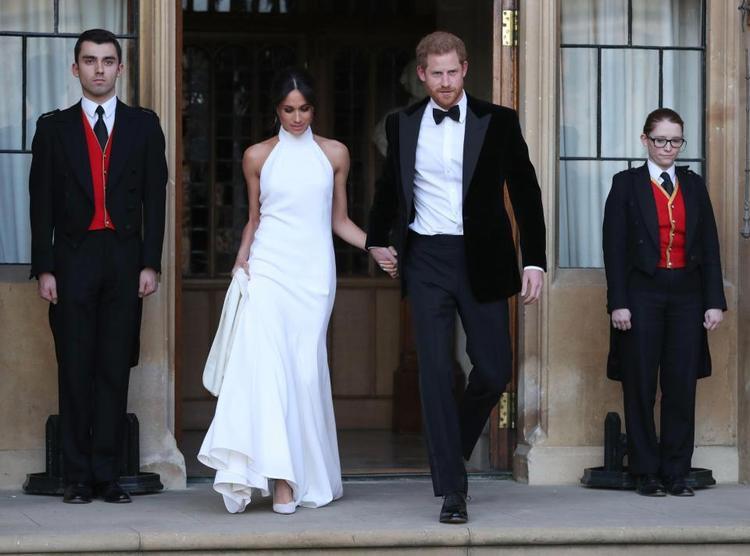 Bài thơ Meghan đọc trong đám cưới khiến hàng trăm khách mời và cả Hoàng tử Harry xúc động. Ảnh: AFP
