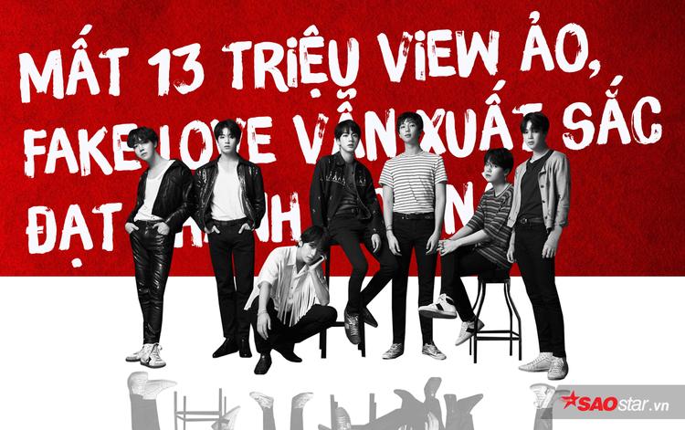 Mất 13 triệu view ảo, MV Fake Love của BTS vẫn đạt thành tích này trong 8 ngày