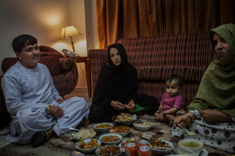 Gia đình hiện tại của Khadija.