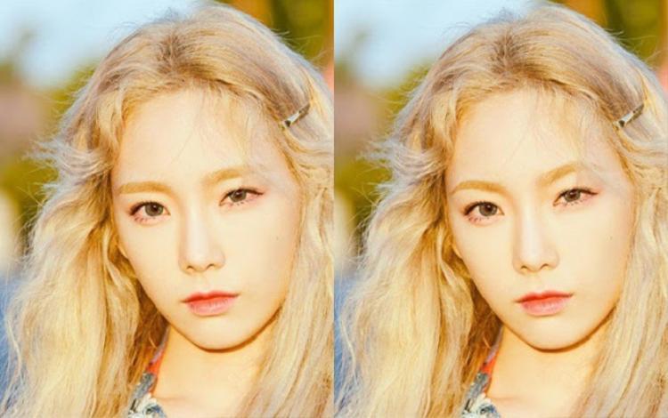 Lông mày vòng cung khiến đôi mắt to của Taeyeon càng thêm cuốn hút