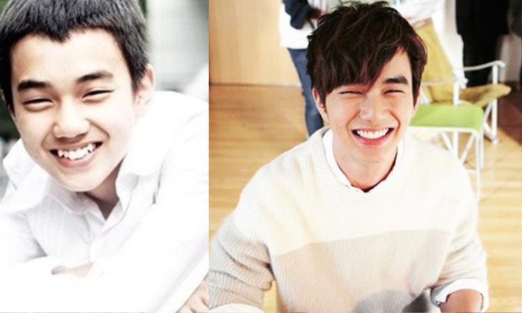 Vẫn là Yoo Seung Ho đẹp trai từ trong trứng nước nhưng hàm răng đã được chỉnh đều tăm tắp.