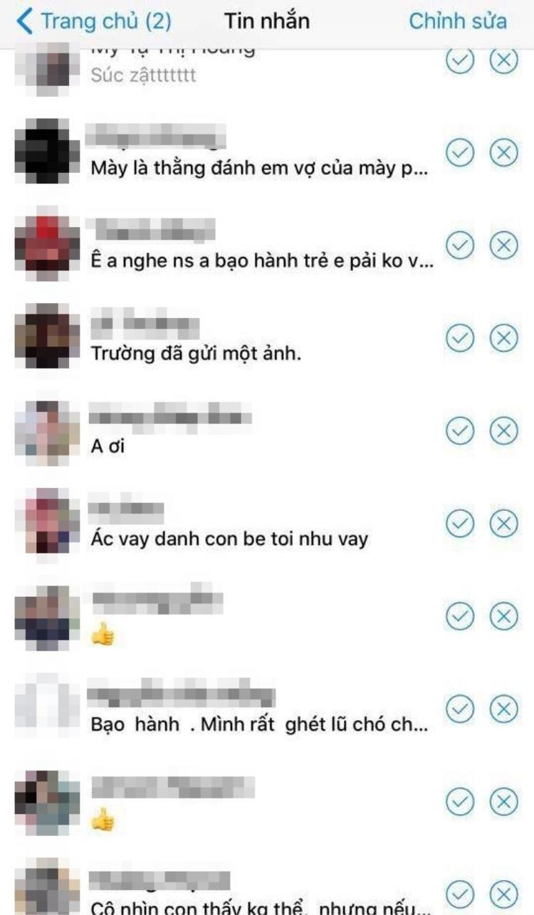 Những dòng tin nhắn chửi nhầm người vô can.
