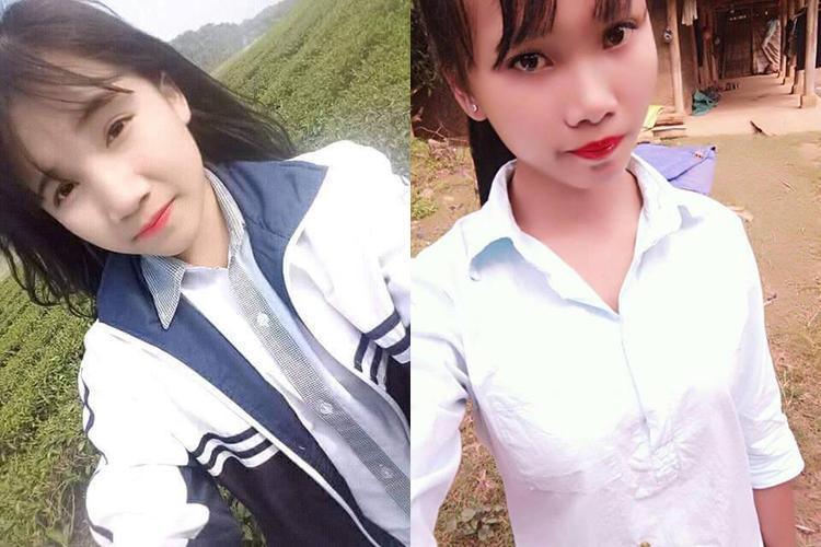 Chân dung 2 nữ sinh mất tích.