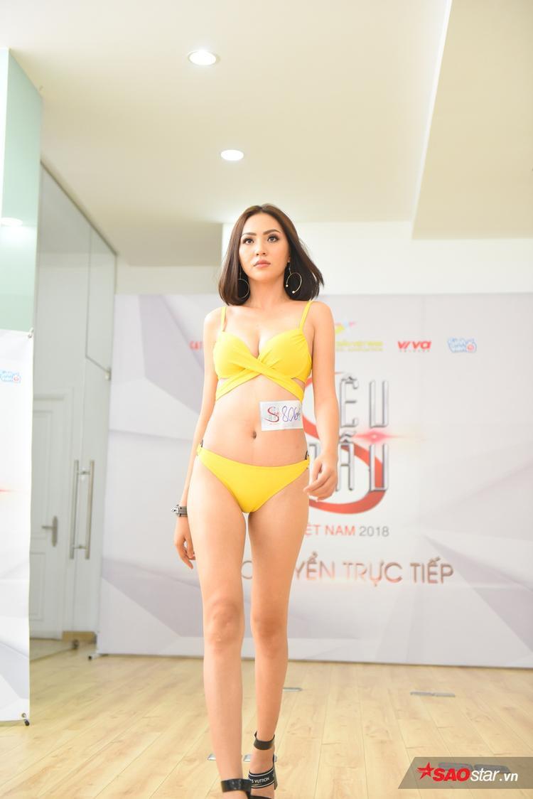 Buổi casting lần 2 còn thu hút sự chú ý của Bảo Ngọc (Ngọc Út), từng là gương mặt quen thuộc của The Face Việt Nam và Hoa hậu Hoàn vũ Việt Nam 2017.