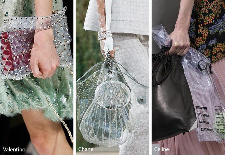 Manh nha từ năm ngoái, nhưng tận mùa hè năm nay, túi trong suốt làm từ nhựa mới thực sự bùng nổ sau màn đổ bộ sàn diễn từ các ông lớn thời trang.